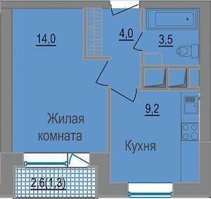 Планировка 1-комнатной квартиры в ЗаМитино